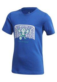 adidas Performance - COTTON T-SHIRT - Print T-shirt - blue - 2