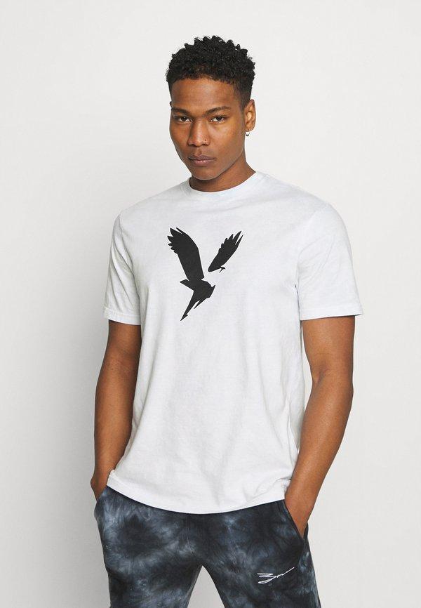 American Eagle CORE TEE TONAL TIE DYE - T-shirt z nadrukiem - blue/niebieski Odzież Męska TUCU