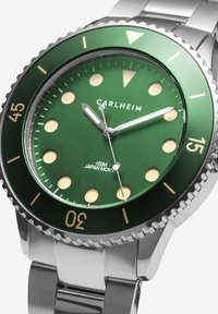Carlheim - DIVER 40MM LINK - Montre - silver-green - 2