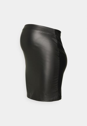 PCMNEW SHINY SKIRT - Mini skirts  - black