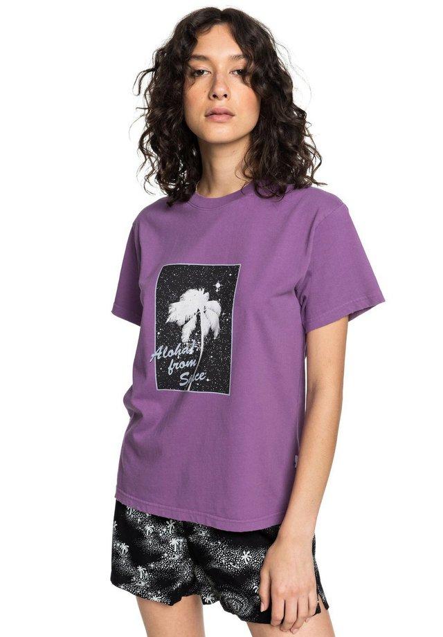 Print T-shirt - crushed grape