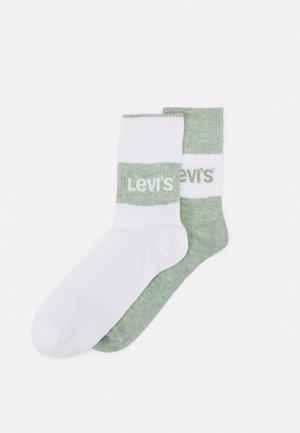 REGULAR CUT 2 PACK - Socks - green/white