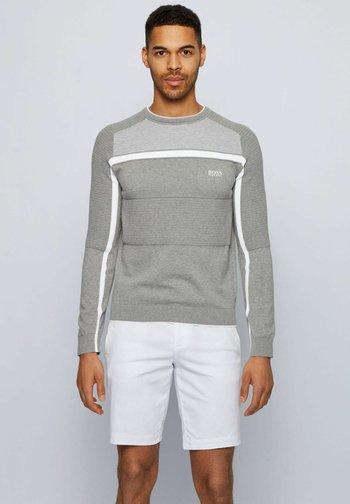 REMI - Stickad tröja - light grey