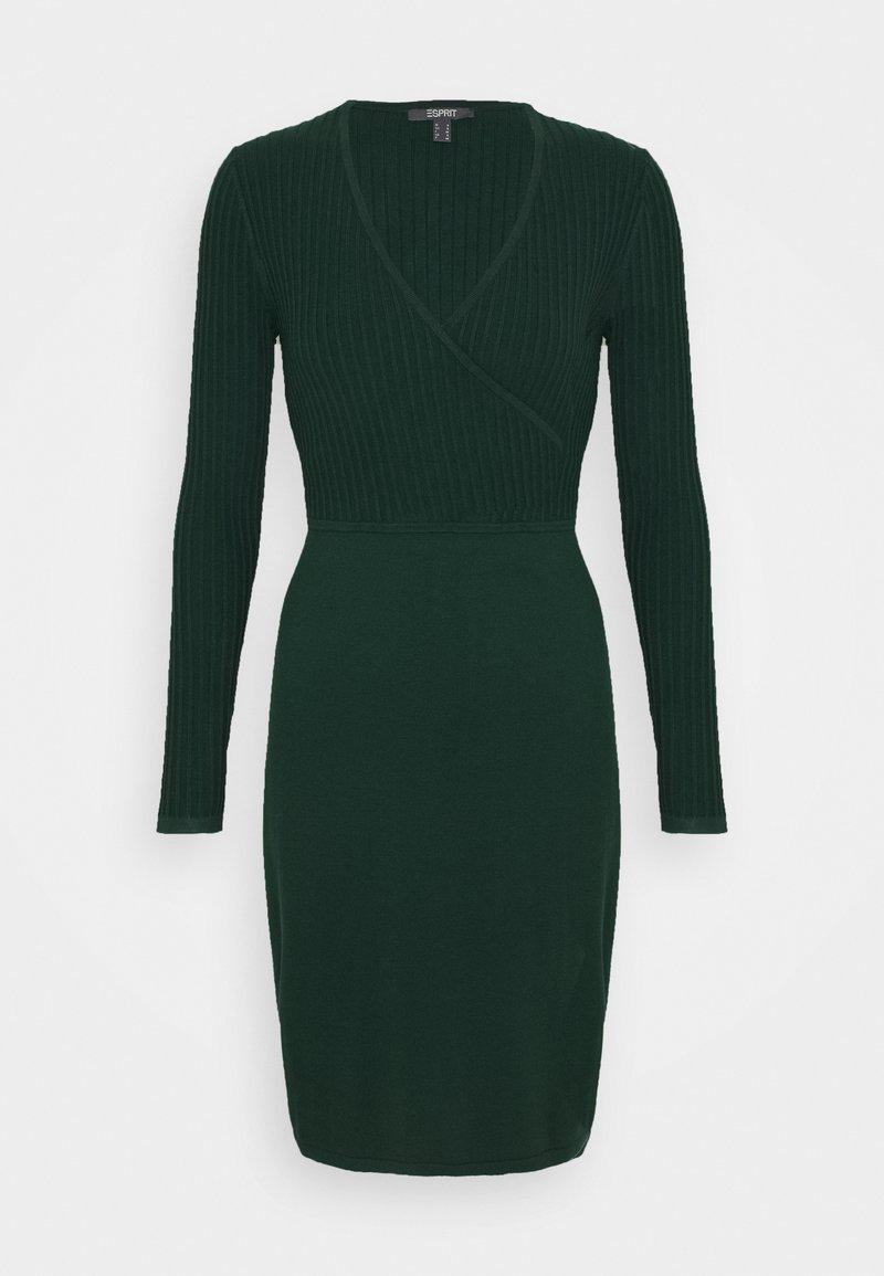 Esprit Collection - DRESS - Shift dress - bottle green
