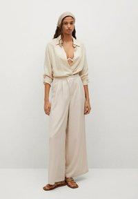 Mango - MOMA-A - Spodnie materiałowe - ecru - 1