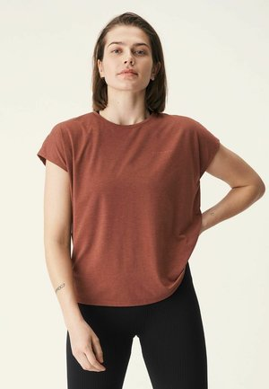 T-shirt basic - copper brown