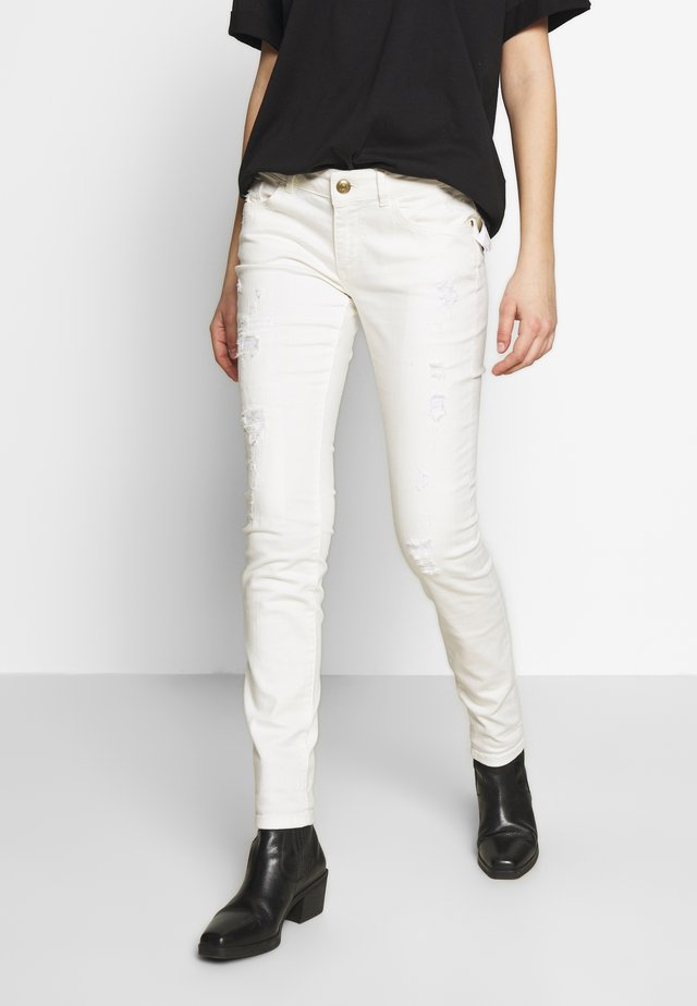 BRADFORD WORKED - Jeans Skinny - white