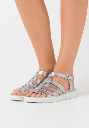 FLOWT  - Sandals - alu silver droid
