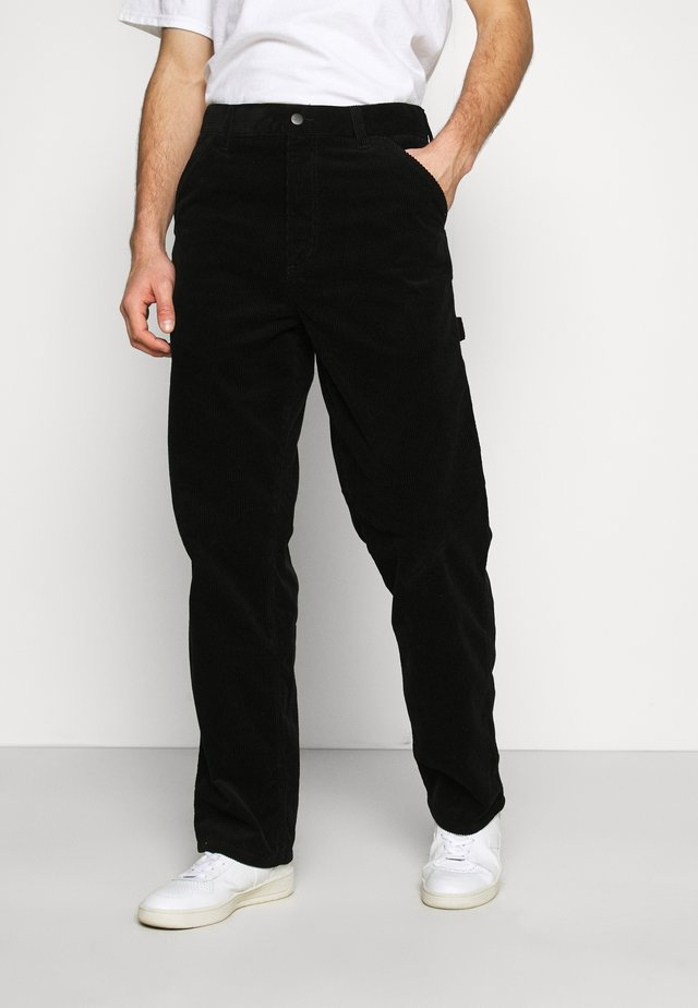 SINGLE KNEE PANT COVENTRY - Trousers - black rinsed