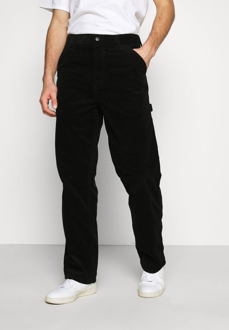 Carhartt WIP - SINGLE KNEE PANT COVENTRY - Trousers - black rinsed