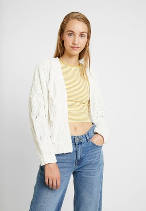 CHANTELLE CARDI - Strickjacke - cloud dancer