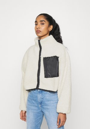 ELLI TEDDY JACKET - Light jacket - offwhite/black