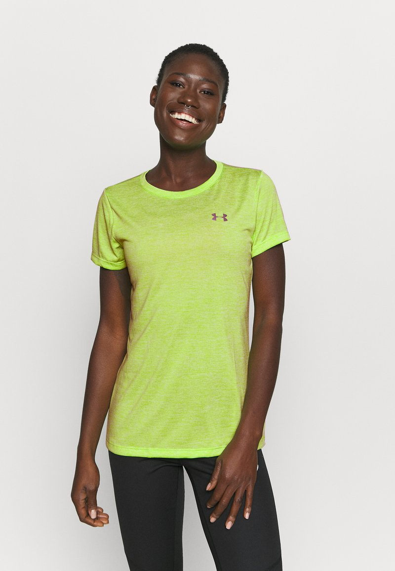 Under Armour - TECH TWIST - Basic T-shirt - lime fizz