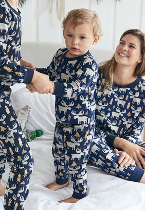 MATCHING FAMILY BABY CHRISTMAS MOOSE  - Sleep suit - gold