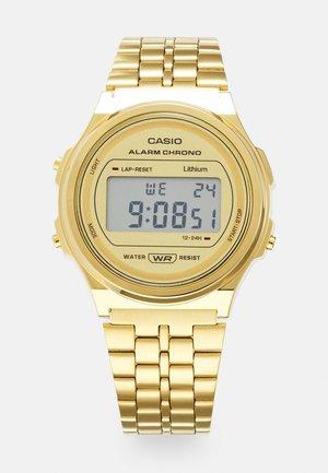 ROUND UNISEX - Digital watch - gold-coloured