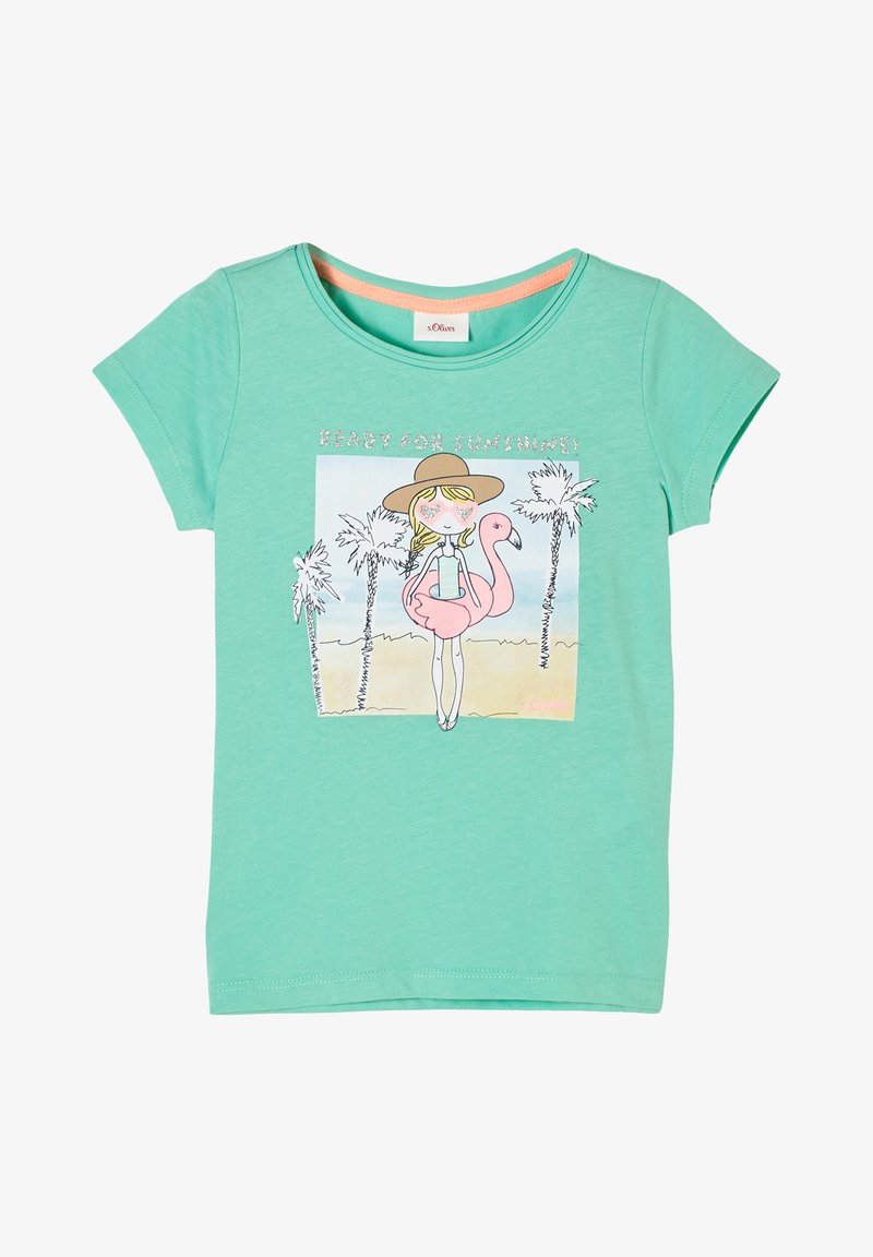 s.Oliver - Print T-shirt - turquoise