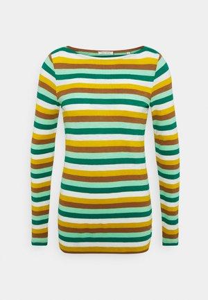 LONG SLEEVE BOAT NECK - Top sdlouhým rukávem - multi/azure green