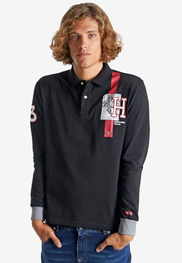 OSMONDO - Polo shirt - black