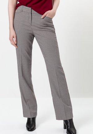 KARIERT HIGH WAIST - Trousers - claret red