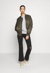 New Look - DEEP HEM BATWING - Jersey de punto - light grey - 1