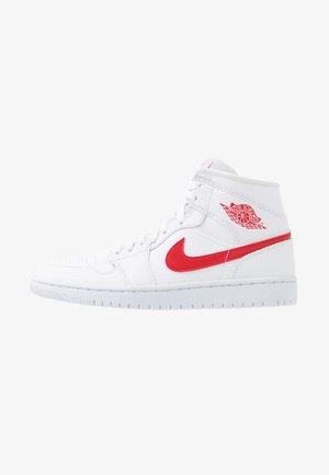 AIR 1 MID  - Sneaker high - white/university red