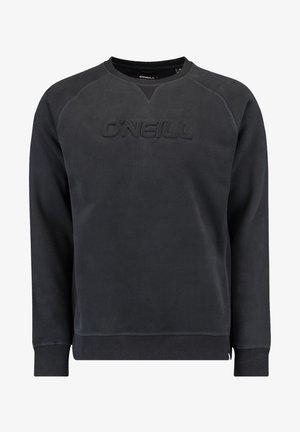CREWS LOGO CREW NECK - Sweatshirt - black out