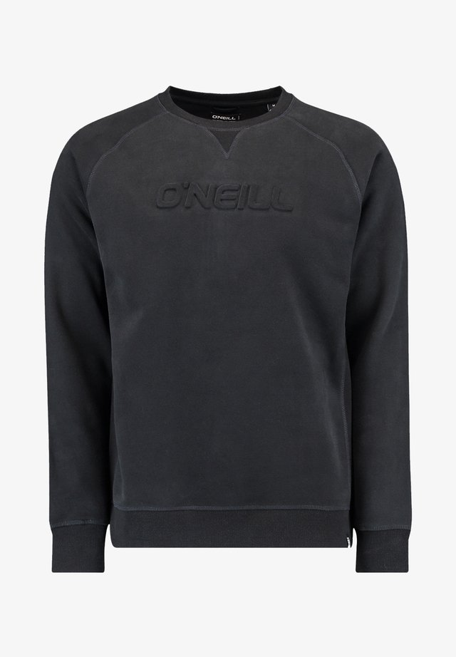 CREWS LOGO CREW NECK - Sweatshirt - black out