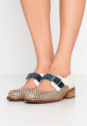 YUMMY - Slippers - kassy natur/zeus petrol/ jansen leche