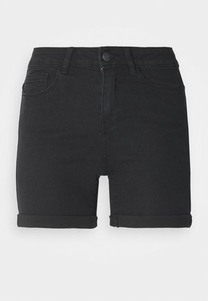 VMHOT SEVEN FOLD TALL - Denim shorts - medium blue denim/black