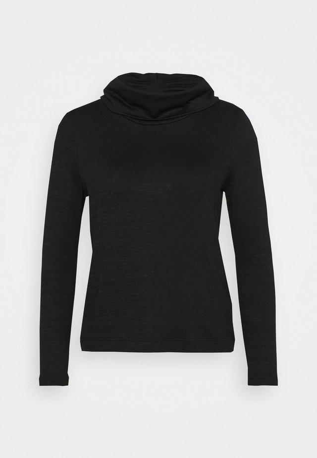 LUXESPUN MOCKNECK - Stickad tröja - black