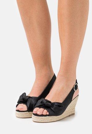 VMFELIA WEDGE  - Sandály na platformě - black
