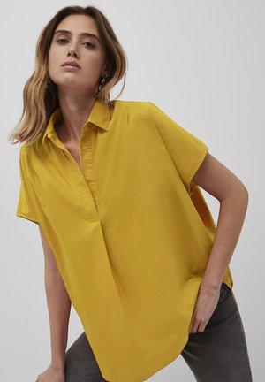 Button-down blouse - bright daffodil