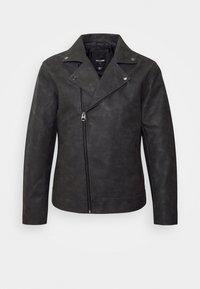 ONSWILLIAM BIKER - Faux leather jacket - phantom