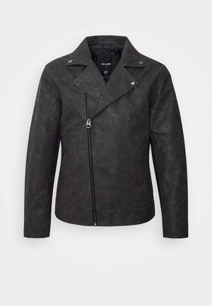 ONSWILLIAM BIKER - Faux leather jacket - phantom