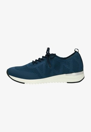 LACE UP - Trainers - navy knit