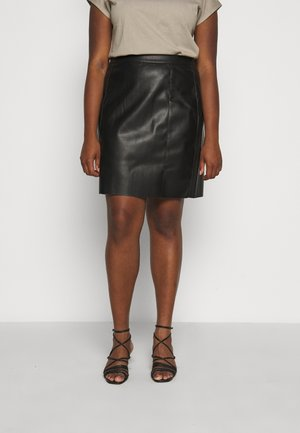 VMNORARIO SHORT COATED SKIRT - Pencil skirt - black
