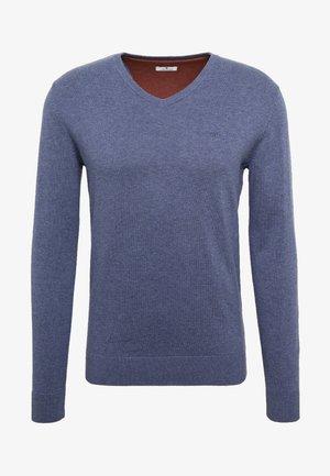 Stickad tröja - vintage indigo blue melange