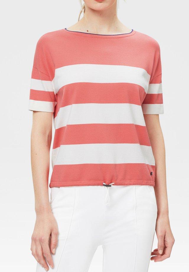 MIO - T-shirt imprimé - lachsrot/weiß