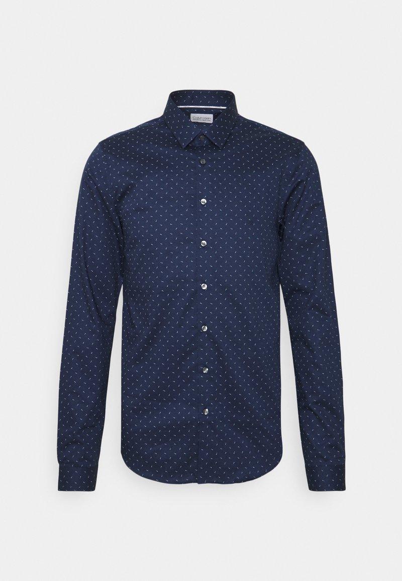 Calvin Klein Tailored - NATURAL EXTRA SLIM - Formal shirt - navy
