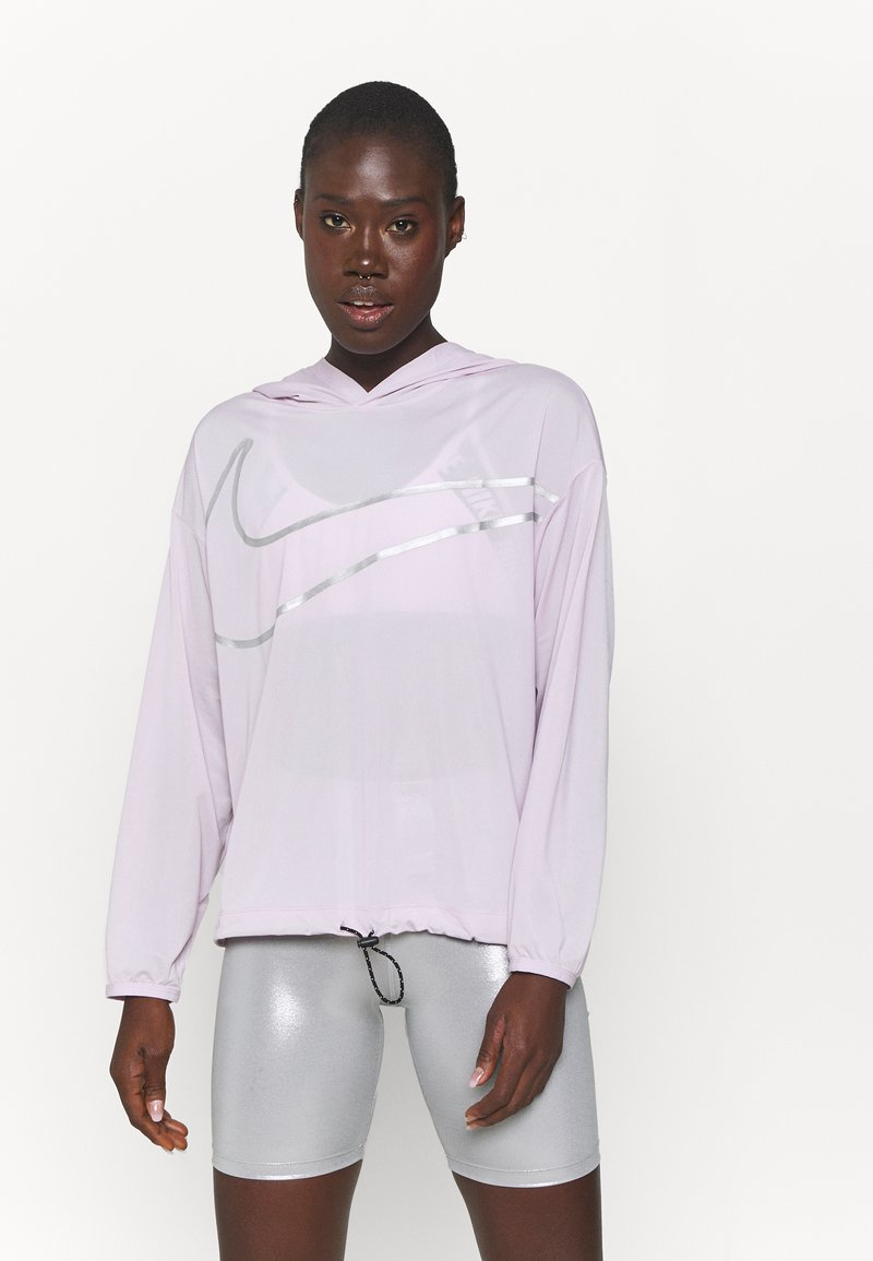 Nike Performance - COVERUP  - Hoodie - iced lilac/metallic silver