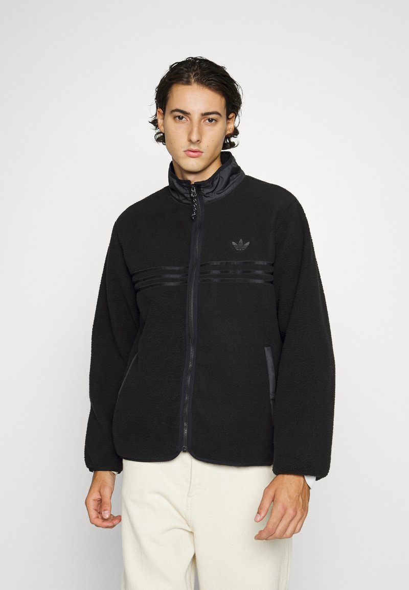 adidas Originals - ZIP THRU - Fleece jacket - black