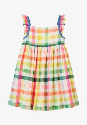 Day dress - bunt, regenbogenfarbene vichykaros