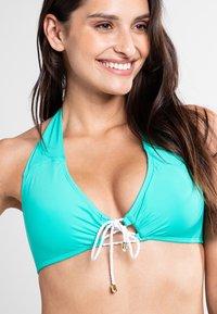Lauren Ralph Lauren - BEACH CLUB SOLIDS  - Bikini top - light aqua - 2