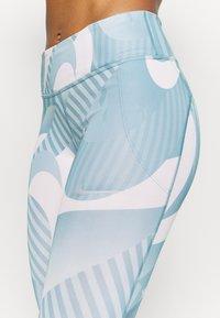 Nike Performance - FAST 7/8 RUNWAY - Leggings - cerulean/silver - 5