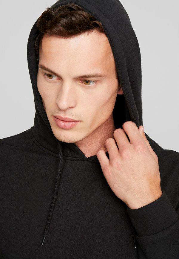 Pier One Bluza z kapturem - black/czarny Odzież Męska CTUB