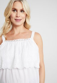 Dorothy Perkins Maternity - BRODERIE NURSING CAMI - Bluse - white - 3