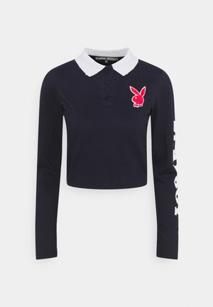 PLAYBOY VARSITY CROP - Polo shirt - navy