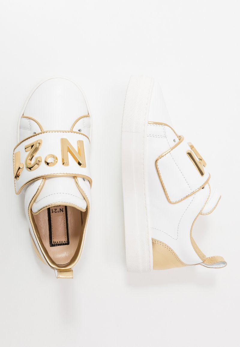 N°21 - Trainers - white/gold