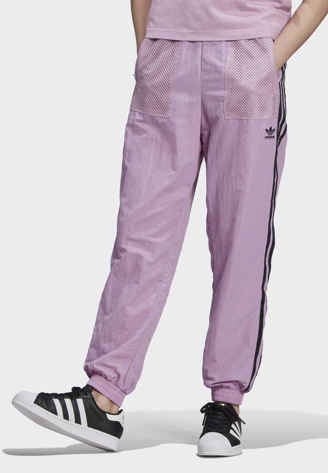 NYLON TROUSERS - Tracksuit bottoms - purple