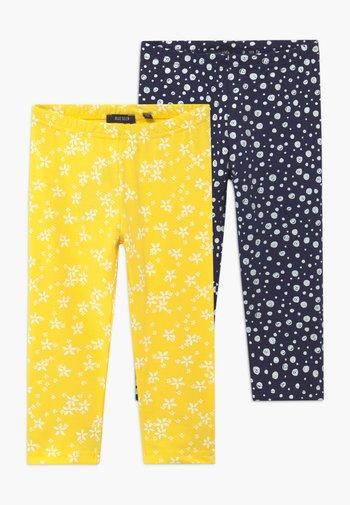 CAPRI 2 PACK - Leggings - Trousers - gelb/blau